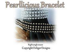 Pearllicious Bracelet  Pattern Tutorial by DebgerDesigns