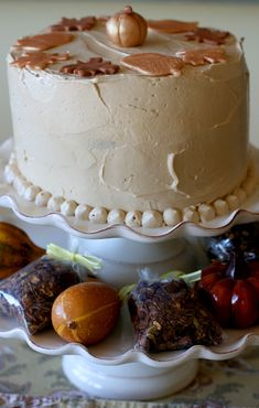 Fall Cakes, Pudding, Desserts, Projects, Food, Log Projects, Deserts, Autumn Cake, Custard Pudding