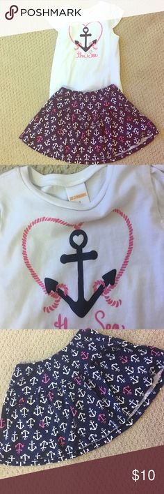 Gymboree tee & skirt outfit Good condition Gymboree Matching Sets