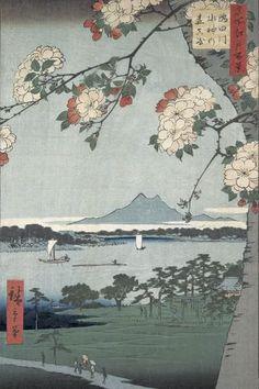 Japanese Art Modern, Japanese Prints, Japanese Shrine, Mont Fuji, Samurai Artwork, Water Drawing, Japan Art, Woodblock Print, Art Drawings