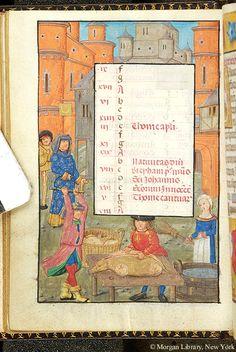 December 2 - Book of Hours - Belgium, ca. 1490 - MS S.7 fol. 12v