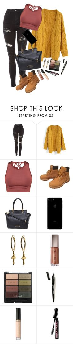 """how can u not"" by giriboy97 ❤ liked on Polyvore featuring Topshop, Chicwish, Timberland, L.A. Girl, Too Faced Cosmetics and Soap & Glory"