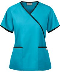 UA Women's Mock Wrap Scrub Top features a solid contrast trim on the wrap line, pockets and sleeves as well as two front patch pockets. Shop for Solid Scrub tops at UA! Maternity Scrubs, Buy Scrubs, Uniform Advantage, Lab Coats, Tall Pants, Petite Pants, Print Jacket, Scrub Tops, Skirt Pants