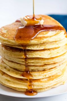 The Perfect Homemade Pancake Recipe is easy to make with ingredients you probably already have on hand. This recipe can easily be turned into a pancake mix or into buttermilk pancakes as well. It's the perfect versatile all-in one recipe.#thestayathomechef #pancakes
