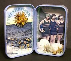 20 Altered Altoids Tins into Miniature Works of Art Altered Tins, Altered Art, Fun Crafts, Paper Crafts, Craft Projects, Projects To Try, Mint Tins, Shadow Box Art, Matchbox Art