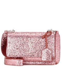Saint Laurent Sunset Monogram Small glitter shoulder bag #ad