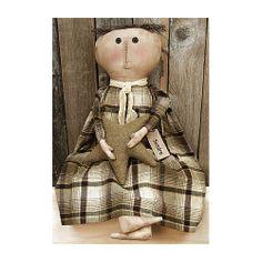 Doll   Sandra   Primitive Country Rustic Stuffed Decor: Home