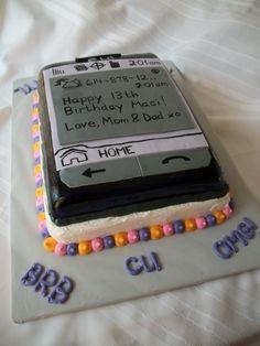 Cell phone birthday cake Cakes Ive made Pinterest Birthday