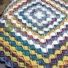 [코바늘 무료도안] 바바리안 코바늘 블랭킷 (Bavarian Crochet Blanket) 무료도안 (정사각형) 단색실과 ... Blanket, Rugs, Crochet, Patterns, Home Decor, Crocheting, Farmhouse Rugs, Block Prints, Decoration Home