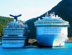 Cruise Ships Docked In St Maarten|Love's Photo Album
