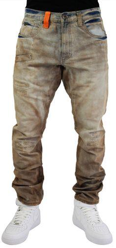 Rocksmith Peak Men's Denim Straight Leg Jeans Distressed