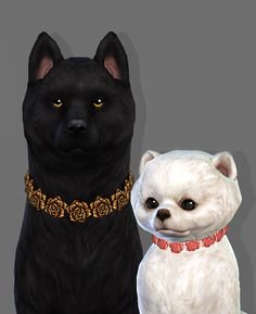 Lana CC Finds - Rose Collar for pets