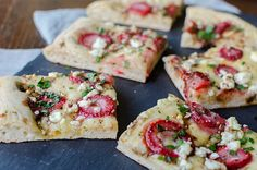 balsamic strawberry and goat cheese flatbread. (i think this party is worth having JUST to have an excuse to make this.)