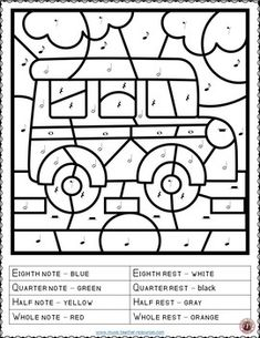 music lessons | music education | Back to school | Music Coloring Pages: 15 SCHOOL Themed Music Coloring Sheets #musiceducation #musiced