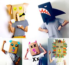 Stuck for some inspiration this year? why not go as a box?! great ideas on linus & the feel good factory