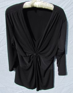 Daisy Fuentes Black shirt.  Womens SizeXL,  #DaisyFuentes #Blouse #Career