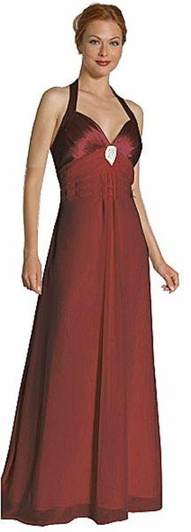 Burgundy Bridesmaid Dress Halter Empire Waist Formal Cruise Dress $34.99