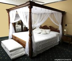 Rustic Four Poster Bed rustic four poster bed | live it up! | pinterest | bedrooms and