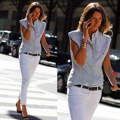 jeans blanco infaltable
