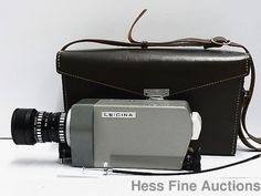 Leica Leicina Germany 8mm Movie Camera 8SV-48254 w Original Case NR