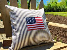 An Easy Flag Pillow For Memorial Day — Be Fed Again