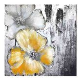 Found it at Wayfair - Moe's Home Collection Cream and Yellow Poppies I Canvas Wall Art