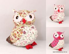 Free Stuffed Owl Pattern | ... Style Floral Pattern Soft Toy Stuffed Animal Room Décor - Owl (27cm
