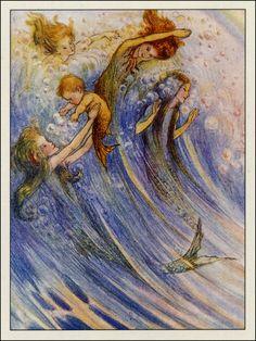 Merfolk by Flora White 1913
