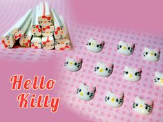 NEW ITEM! 10 Hello Kitty Fimo Canes & Nail or Craft Embellishment. Starting at $7 on Tophatter.com! Item goes up for live auction in about 1 hour (10:15p.m. EST) Come join us for a fun live bidding experience with cute avatars.