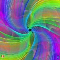 Zwei Schwarze Löcher verschmelzen unter Abstrahlung von Gravitationswellen...