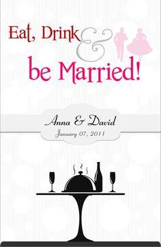 Cookbook Wedding Favor idea!