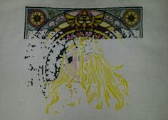 RedVelvetsCrafts - Day 40 - legend of zelda wind waker cross stitch