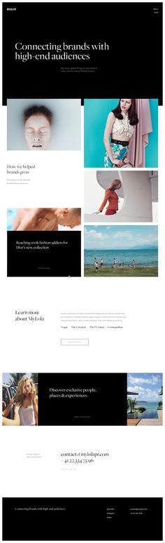 Webdesign — MyLola PR Homepage #grid