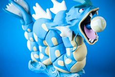 Gyarados Pipe / MADE to ORDER / Pokemon Polymer Clay Sculpture / Tobacco Hand Pipe / Hand Sculpted Realistic Pokemon Figures and Pipes