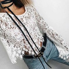 A little bit of lace goes a long way #style