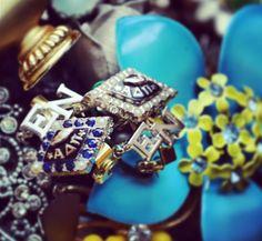 ΑΔΠ sparkle and shine ❣ This is my chapter <> WLFEO Alpha Delta, Sorority And Fraternity, Greek Life, Sister Gifts, Badges, Lions, Class Ring, Celebration, Diamonds