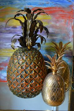 9 inch Brass Pineapple. Juxtapose catchall by FIGHOUSEVINTAGE