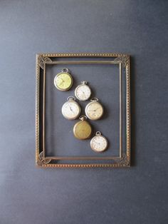 Vintage pocket watch collection by justynamrugala on Etsy, $56.00