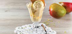 © TeleCulinária Ice Cream, Tableware, Desserts, Food, Mango Puree, Mango Jam, Ice, Top Recipes, Tailgate Desserts