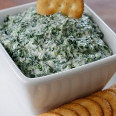 Creamy Parmesean Spinach Dip. This was a hit for the snacking crowd last summer.