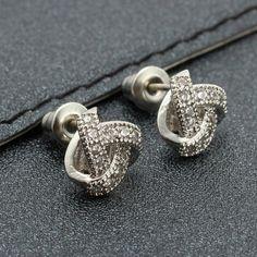 Sale 20% (5.64$) - Trendy 925 Silver Micro Zircon Sweet Gift Personality Ear Studs Earrings For Women