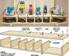 Awesome Tool Shelf ....... More Amazing #Woodworking Projects, Tips &…