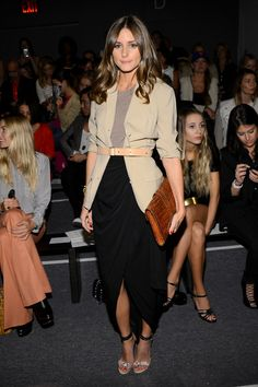 """just look how well she combines colours and how the detail of the belt gives the outfit that """"WoW"""" Factor...bravo Olivia :) Olivia Palermo Photo - Rachel Zoe - Front Row - Spring 2013 Mercedes-Benz Fashion Week"""