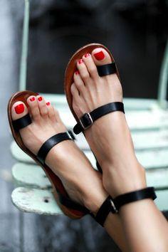 Black opentoe sandals