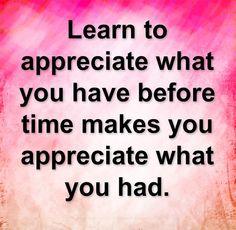 learn to appreciate