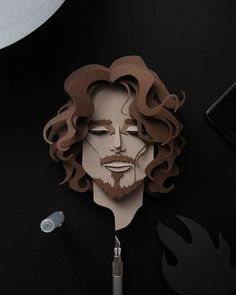 """""""And if you don't believe the sun will rise, stand alone and greet the coming night in the last remaining light."""" - #chriscornell . . . #audioslave #soundgarden #ripchriscornell #paperart #illustration #art #paper #cutout #papercut #papercutportraits #designspiration #graphicdesign #papertoleportraits #artshub #thingwithpaper #madethepapers #madethepaper #sabawph"""