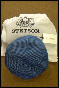 da77aadc Stetson Cap Flat cap Hatteras Cotton Bleu 127. Stetson Flat cap Hatteras  Cotton Bleu 127 from Smyths Country Sports
