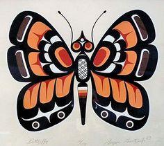 George Hunt Jr, ca. 1990, 'Butterfly', Kwakwaka'wakw Nation, British Columbia, Canada.