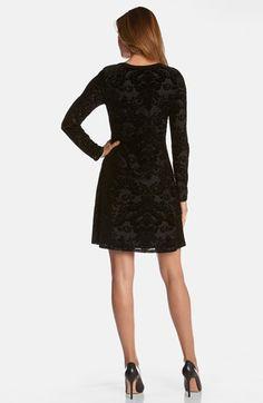 Karen Kane Black Floral Burnout Dress | Nordstrom #Karen_Kane #Black #Floral #Burnout #Dress #Nordstrom