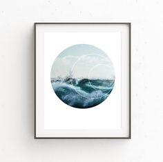 Sea Print Wave Print Wave Art Surf Photography Sea by OjuDesign